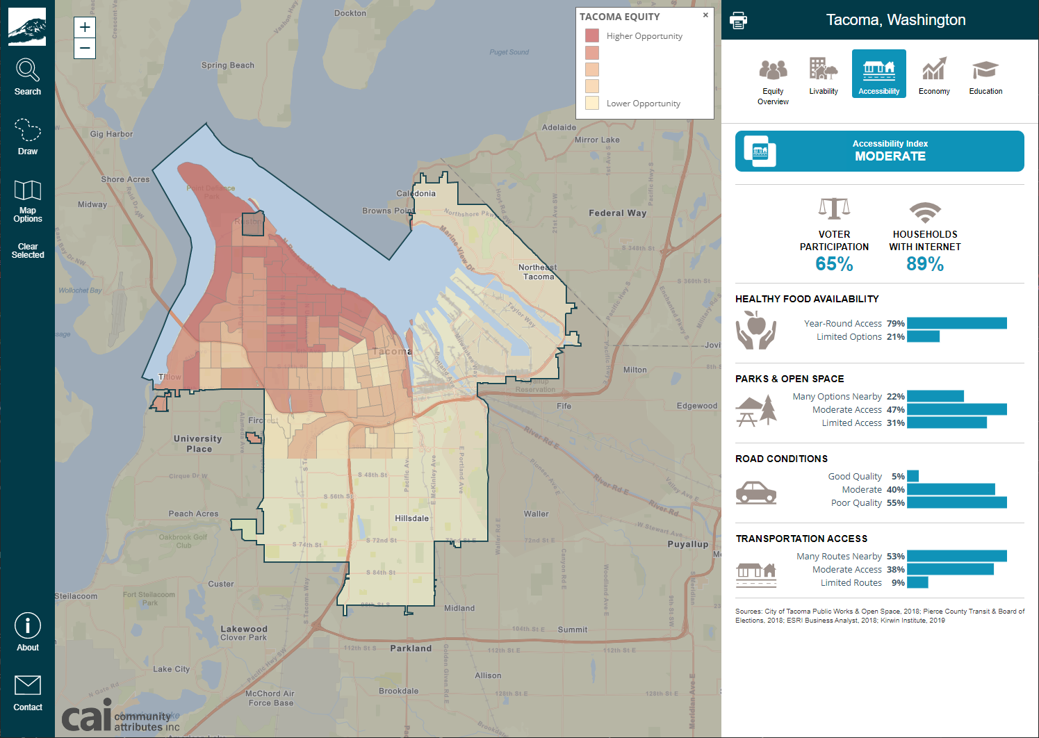 Tacoma Equity Map